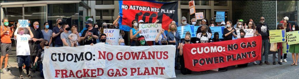 No gas power plants rally